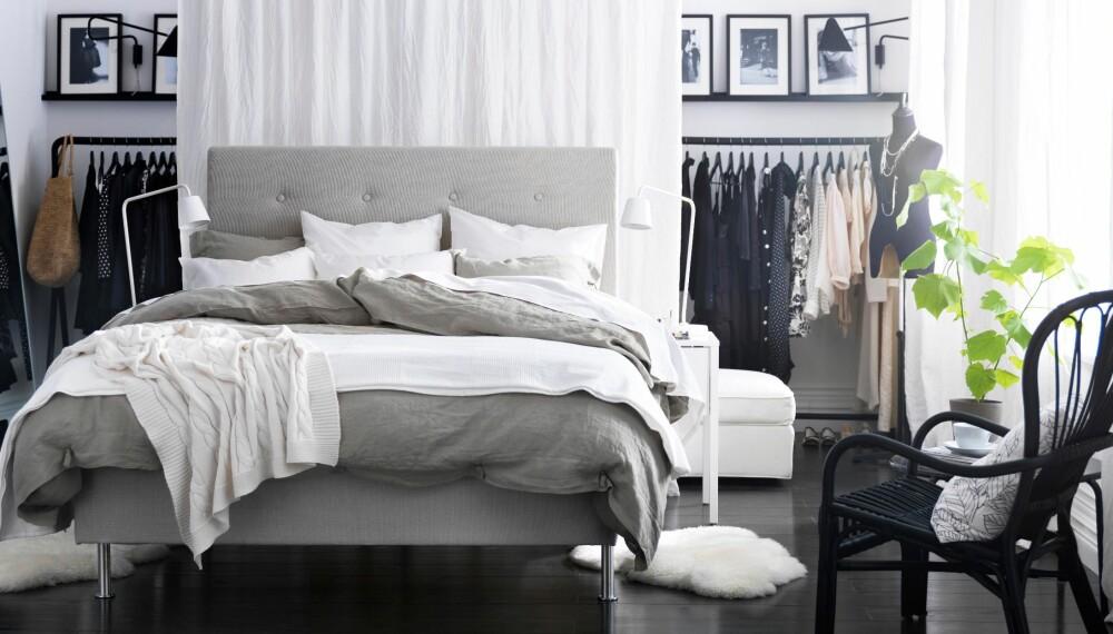 SENGEGAVL: Det er både behagelig og lekkert med en sengegavl, men interiørarkitektene mener du bør prioritere andre ting når du innreder. Dessuten kan man enkelt lage den selv.