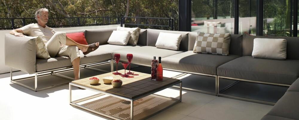 LUKSUS UTE: I sommer skal du ta med deg rommene ut på terrassen. Foto: Cloud