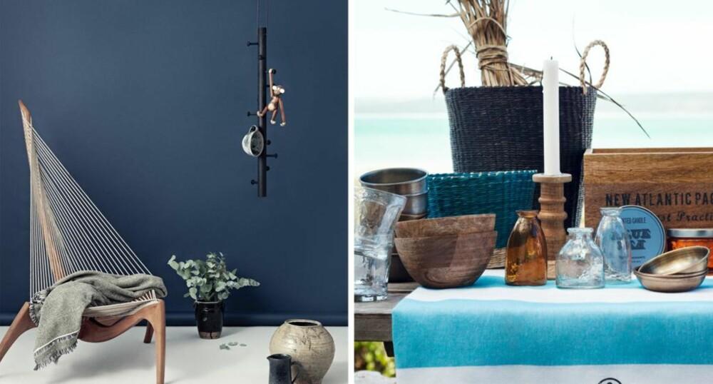 BLÅTT: Noen farger hører alltid sommeren til  og blått er en av dem. FOTO: Jotun og H&M Home