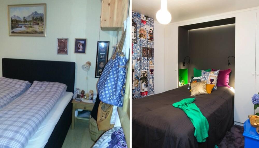 FØR OG ETTER: Familien på Tranby i Lier fikk orden på vaskerommet og soverommet.