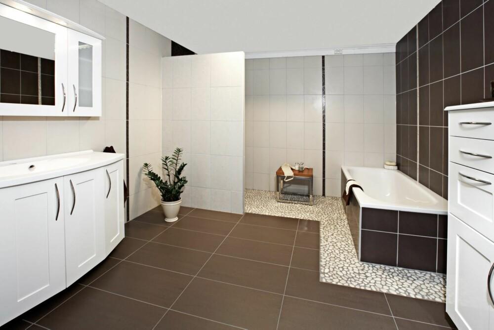 RULLESTEN: Et alternativ til mosaikk er rullesten eller pebbles.