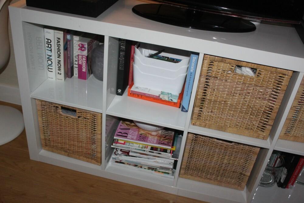 ALT MÅ HA EN PLASS: Det hjelper å være ryddig og organisert om du bor kompakt. FOTO: Trine Jensen