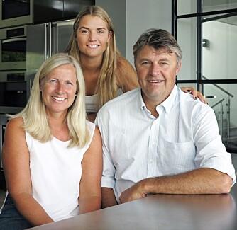 BEBOERNE: Familien Nygaard.