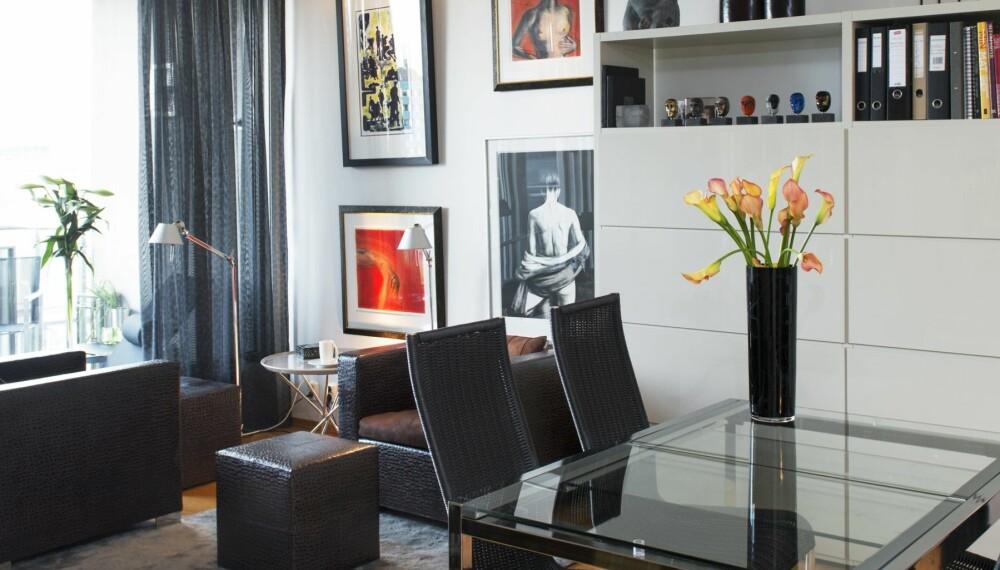 SMART INNREDET: Interiørdesigner Tove Meldgaard gikk fra en femromsleilighet til en på 46 kvadratmeter. Da gjelder det å innrede smart.