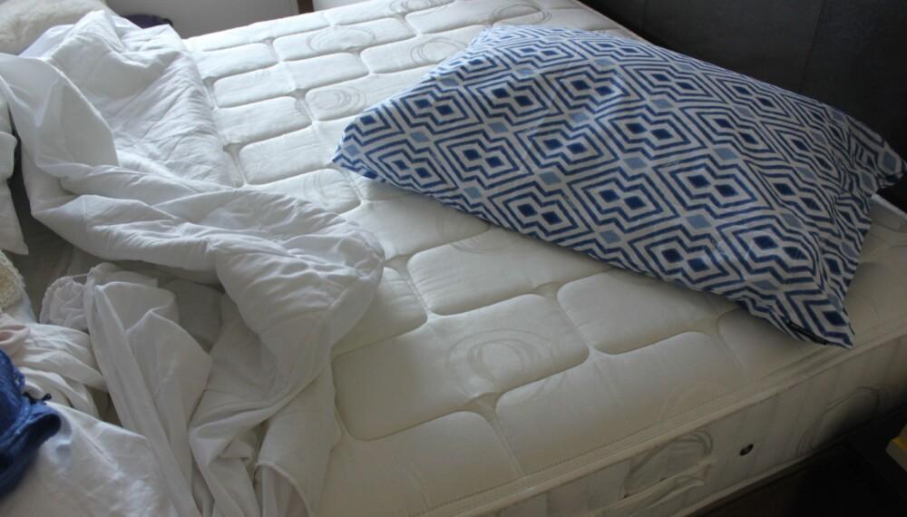 SKITTEN: Hvor nøye er du egentlig med å gjøre ren madrassen din? FOTO: Trine Jensen