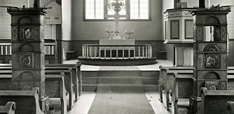 Etasjeovner kan være et smykke i stuen - eller i kirken. Her fra Høylandet kirke.