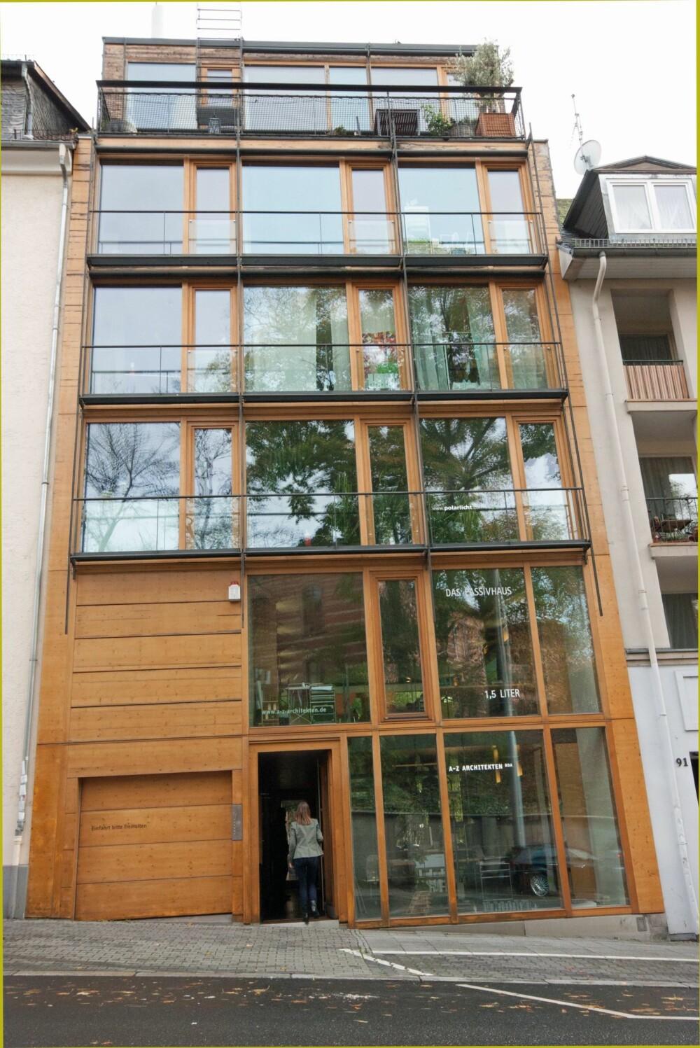 KONTORBYGG SOM PASSIVHUS: Dette er det første kontorbygget i passivhusstandard i Tyskland som både er kontor- og bolighus.