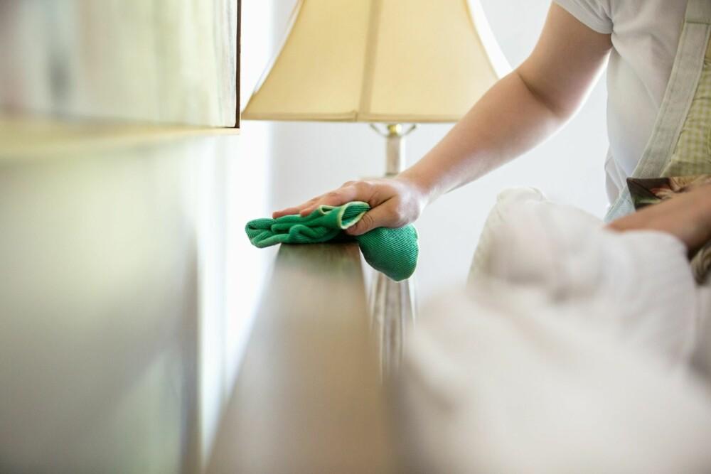 RENE OVERFLATER: Boligen bør ha renholdsvennlige overflater som ikke samler støv.