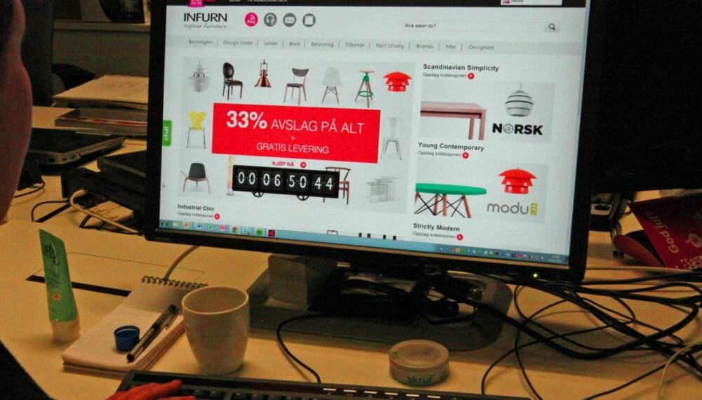 USERIØST: Forbrukerrådet har fått mange klager på nettbutikken Infurn sin virksomhet. Og med bakgrunn i de tilbakemeldingene de får fra forbrukerne, mener Forbruker Europa det ikke er vanskelig å si at Infurn av mange oppleves som useriøst.