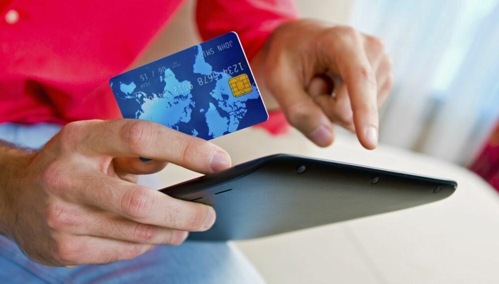 BRUK KREDITTKORT: Skal du handle i en nettbutikk, bør du betale med kredittkort. Det gir deg størst sikkerhet ved svindel eller mangler ved produktet.