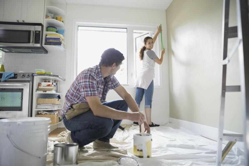 OPPUSSING: Noe oppussing må du regne med om du kjøper boligen brukt.