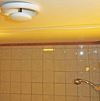 GOD UTLUFTING: Avtrekket på badet bør være mekanisk, slik at den fuktige luften trekkes godt ut og ikke avsettes rundt om i boligen, som kan forårsake råte.