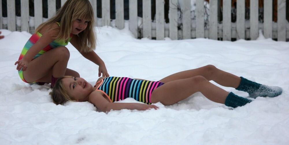 TØFFE JENTER: Hva med en tur på snø-spa?