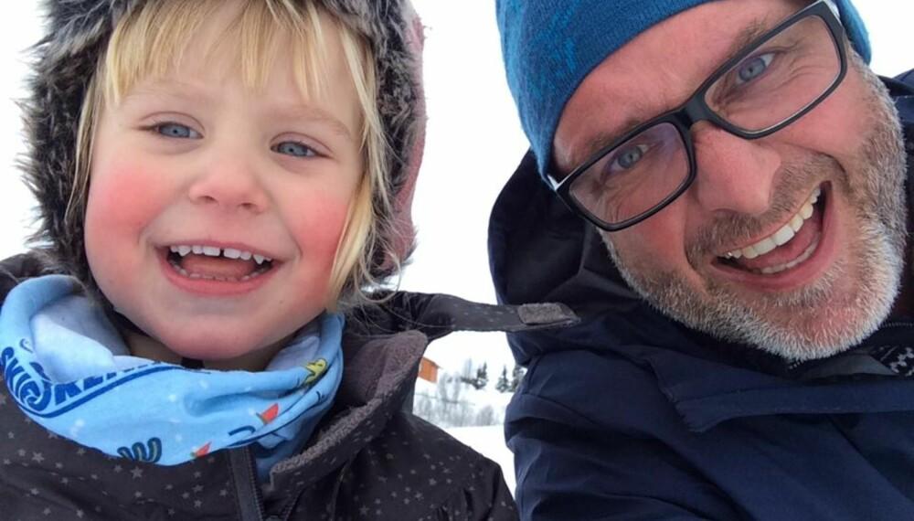 FLOTT OPPLEVELSE: - Det å bli far til Amalie som 45-åring var en flott opplevelse, sier Espen Lilleberg.