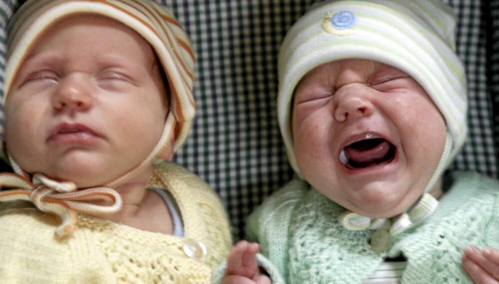 BABYGRÅT: Å la babyer gråte alene i lange perioder, skader utviklingen av hjernen, hevder britisk barneekspert.