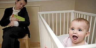 STILLE FØR STORMEN: Underskudd på søvn går ut over alle i en småbarnsfamilie.