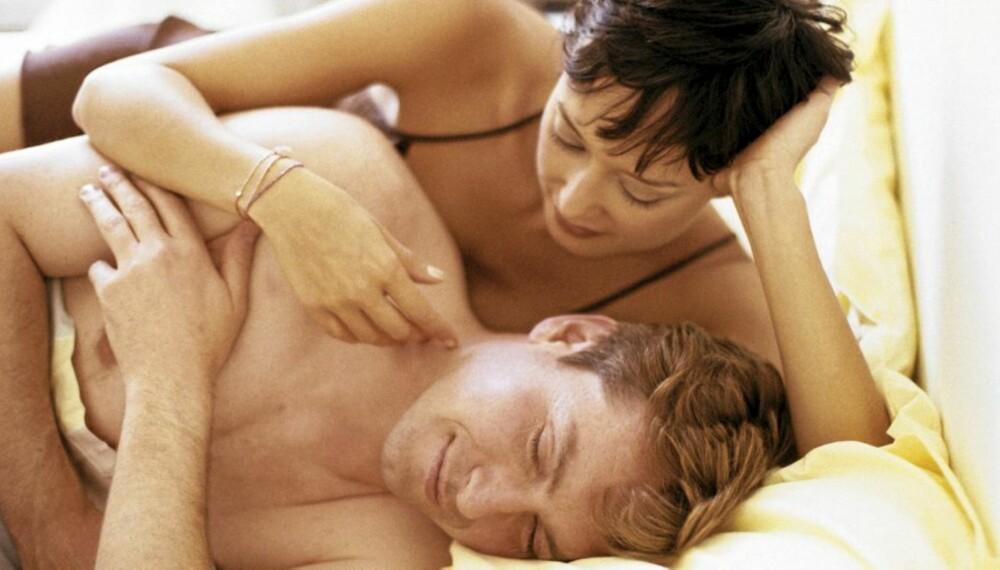 TRØTT GJENG: Mange småbarnsforeldre føler seg for trøtte til å ha sex, og det er ofte mannen som sovner først.