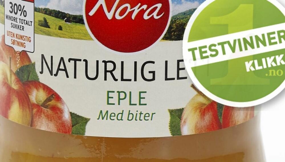 TESTVINNER: Eplesyltetøyet fra Nora er sunnest.
