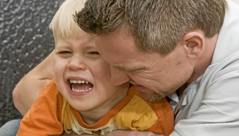 GRÅT: Det er ikke alltid du må dra på legevakten, selv om barent har skadet seg og gråter uten stopp.