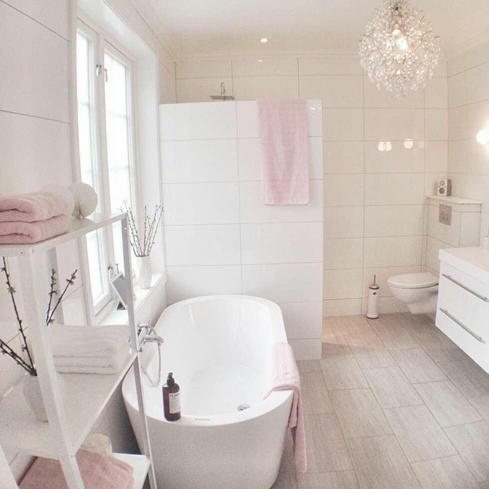 Norges dr mmebad 2014 interi r for Mauve bathroom ideas