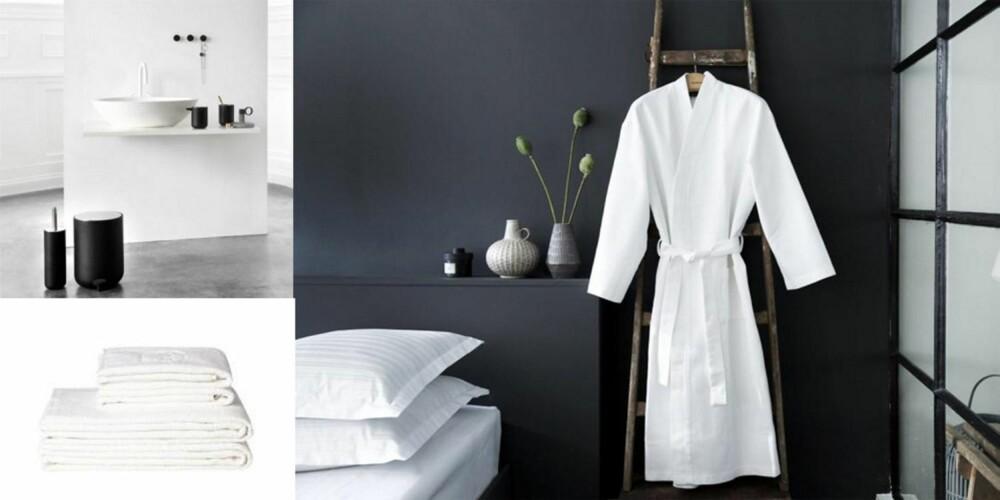 PREMIER: Settet Bath fra Menu, kimonoer og luksushåndklær fra Georg Jensen Damask, var blant premiene.