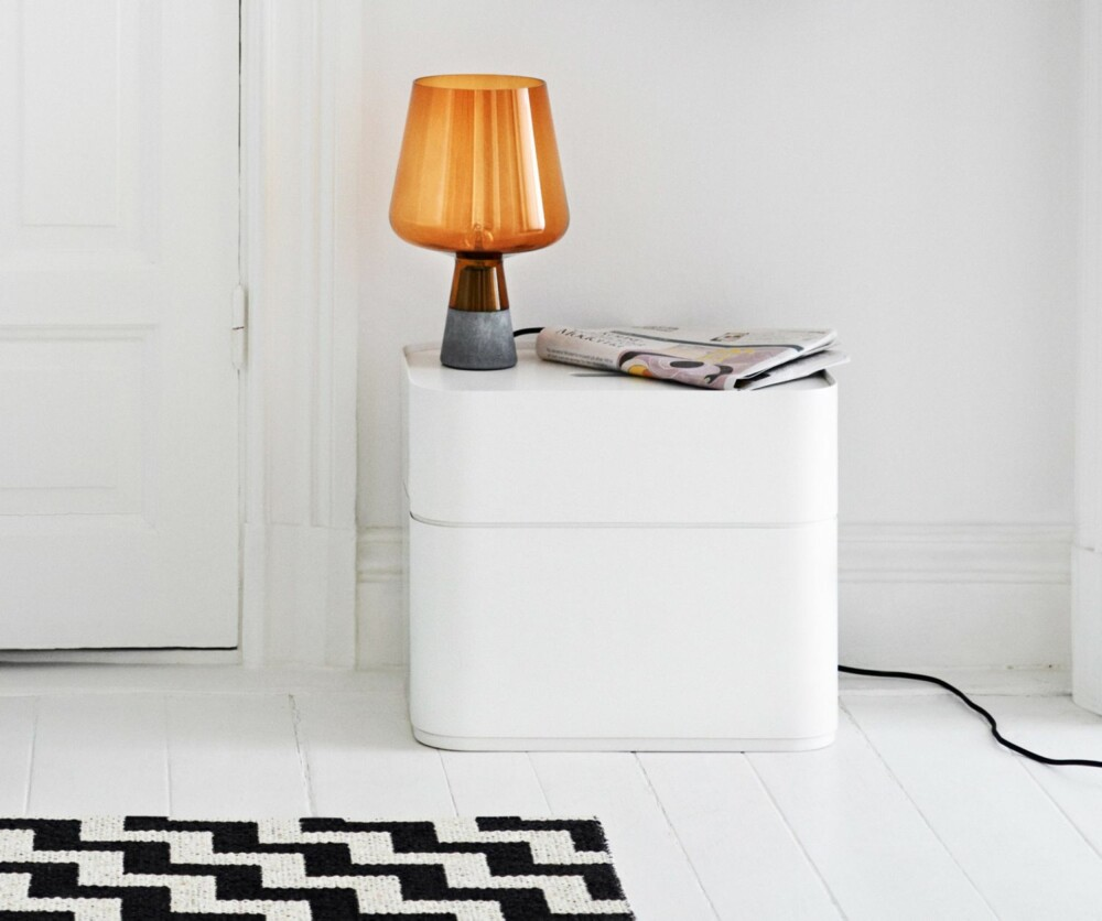 LAMPE I GLASS: Lampen Leimu har Magnus designet for Iittala.