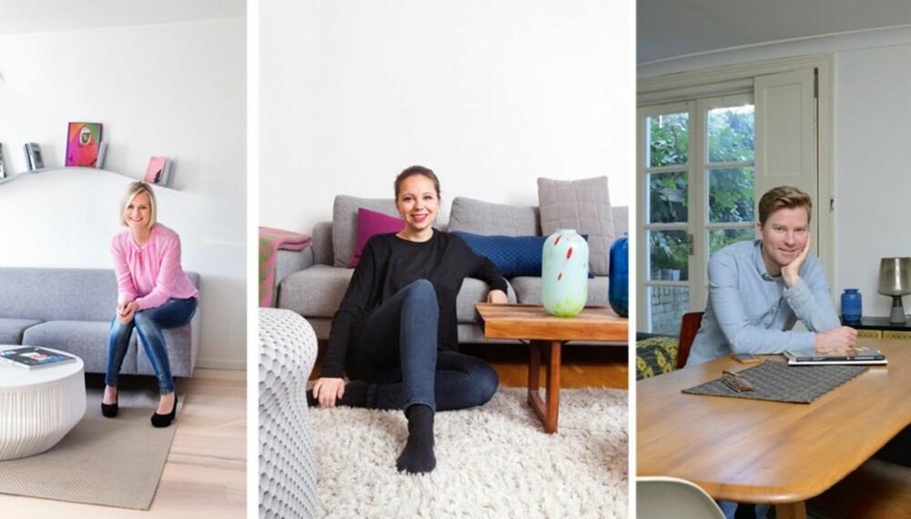 HAR LYKTES: Vibeke Skar, Kristine Five Melvær og Magnus Pettersen er tre spennende, unge designere på offensiven.
