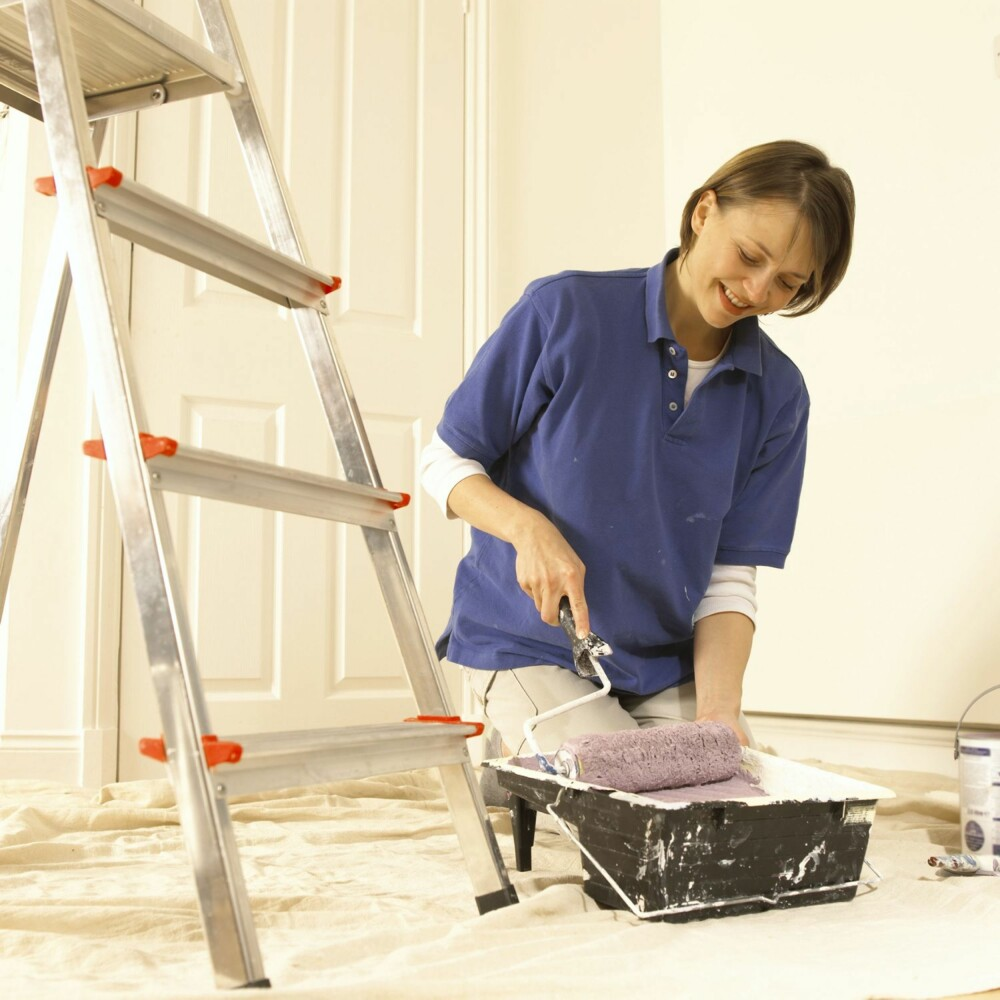 VELG RIKTIG MALING: All maling vil inneholde kjemikalier, men enkelte malingstyper inneholder mer helseskadelige stoffer enn andre.