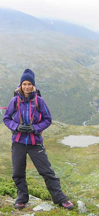 BEST TIL FJELLS: Elisa Røtterud slapper best av til fjells.