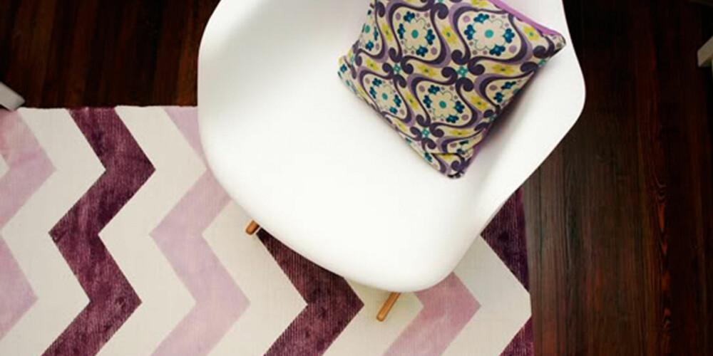 RESULTAT: En helt unik og egenprodusert matte til gulvet.
