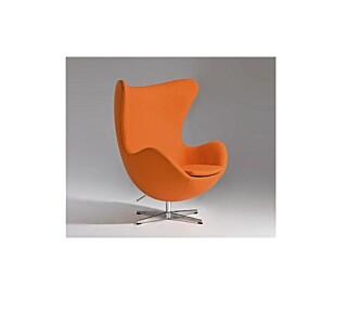 """EGGET: Tilsynelatende lik Arne Jacobsen sin klassiker """"""""Egget"""""""", men dette er en kopi fra Designers Revolt."""