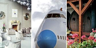 ANNERLEDES: Sov vakkert, sov i et fly eller sov i en vintønne. Her er noen av hotellene som skiller seg ut i mengden.
