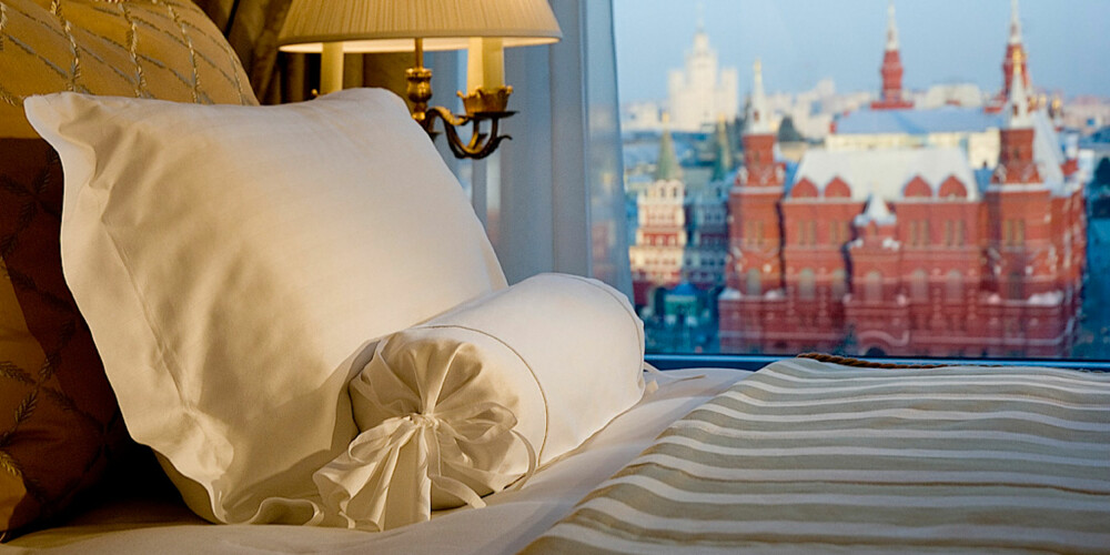 I LUKSUSKLASSEN: På Ritz-Carlton Hotel i Moskva bor du aller flottest på denne suiten.