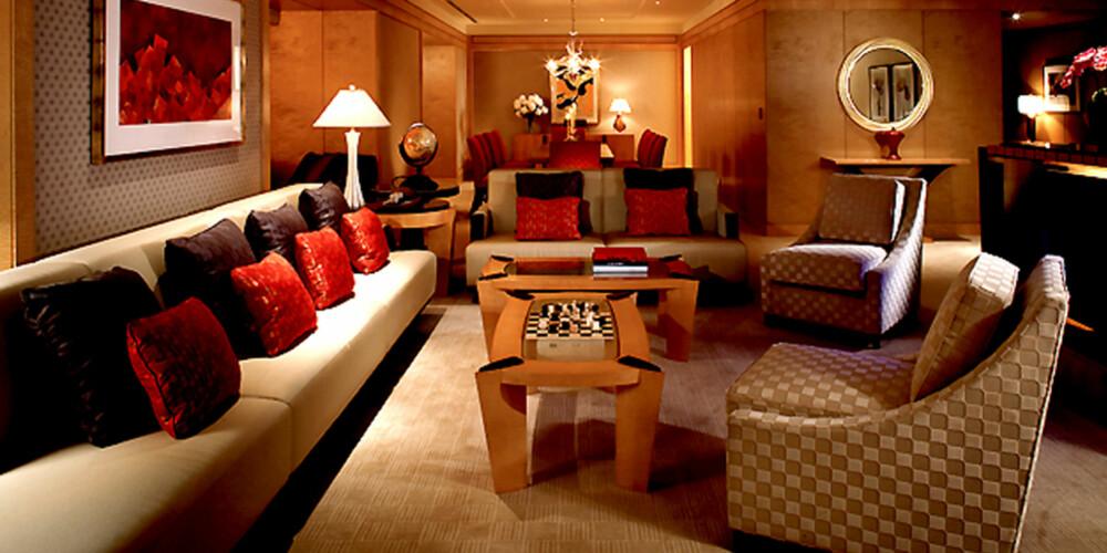 BAHAMAS: Det skorter ikke på luksus på Royal Towers Bridge Suite på hotellet Atlantis.
