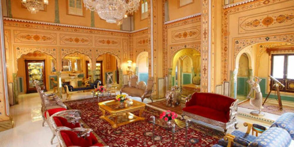 """FORGYLT: På The Presidential Suite på The Raj Palace Hotel i byen Jaipur koster det deg """"bare"""" 258,000 kroner natten."""
