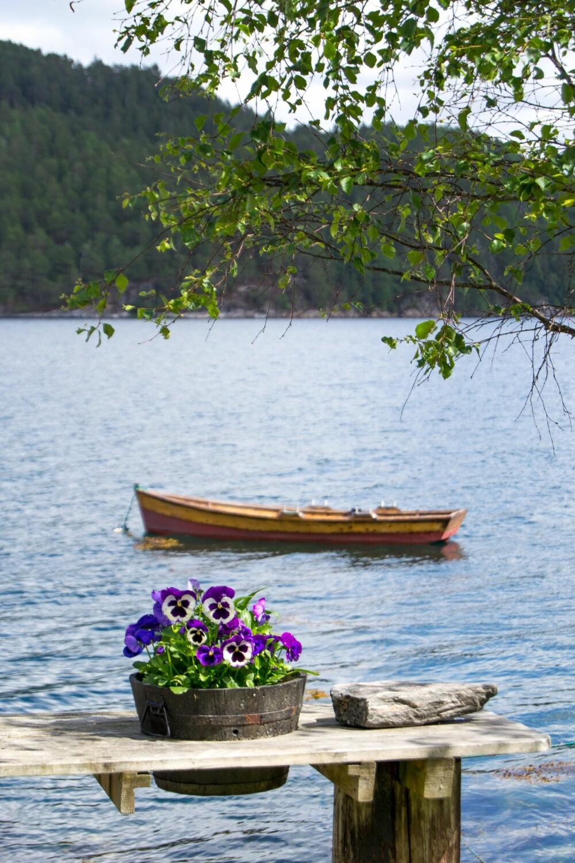 BÅTLIV: Det blir mange båtturer for å samle drivved eller for å fiske litt til middagen.