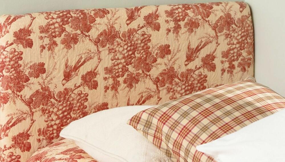 SENGEGAVL: En sengegavl kan gjøre mye for stemningen på soverommet ditt. Lag den selv, det er enklere enn du tror.