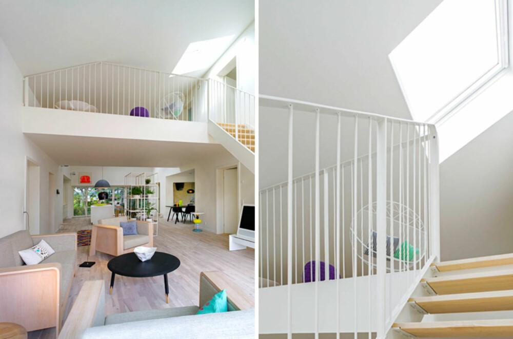 NORDISK: De danske arkitektene har latt seg inspirere av nordisk design og farger når de innredet det smarte containerhuset.
