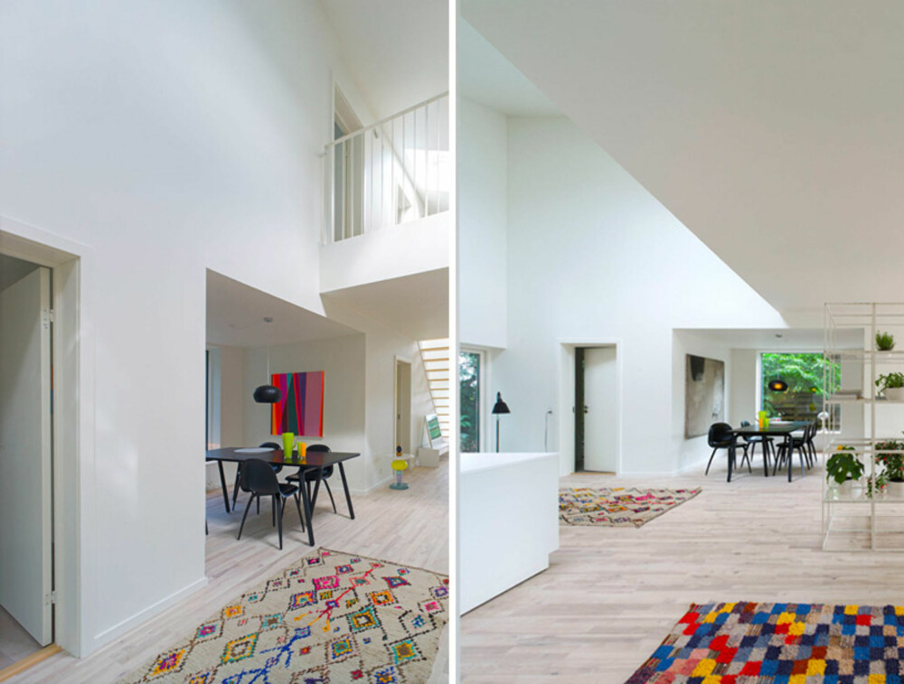 LYS OG LUFT: Store vindu gir rieklig emd dagslys inn i huset.