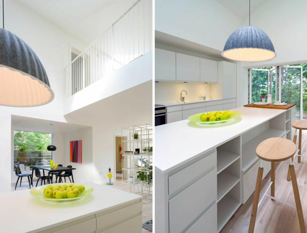KJØKKEN: Som en del av det store allrommet Flex Space ligger også kjøkkenet.