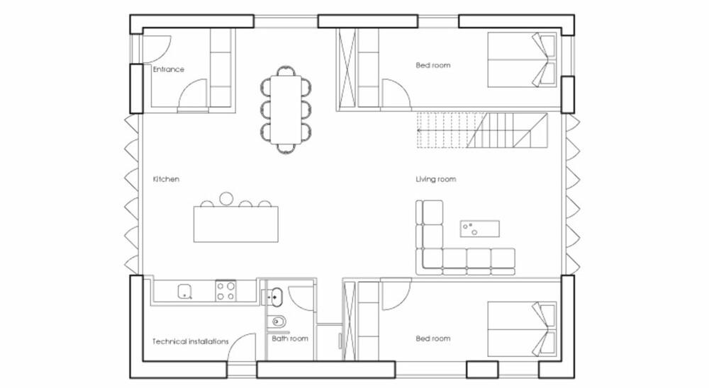 SLIK ER HUSET SATT SAMMEN: Modulbaserte løsninger gjør at eiere selv i stor grad kan bestemme utformingen på huset.