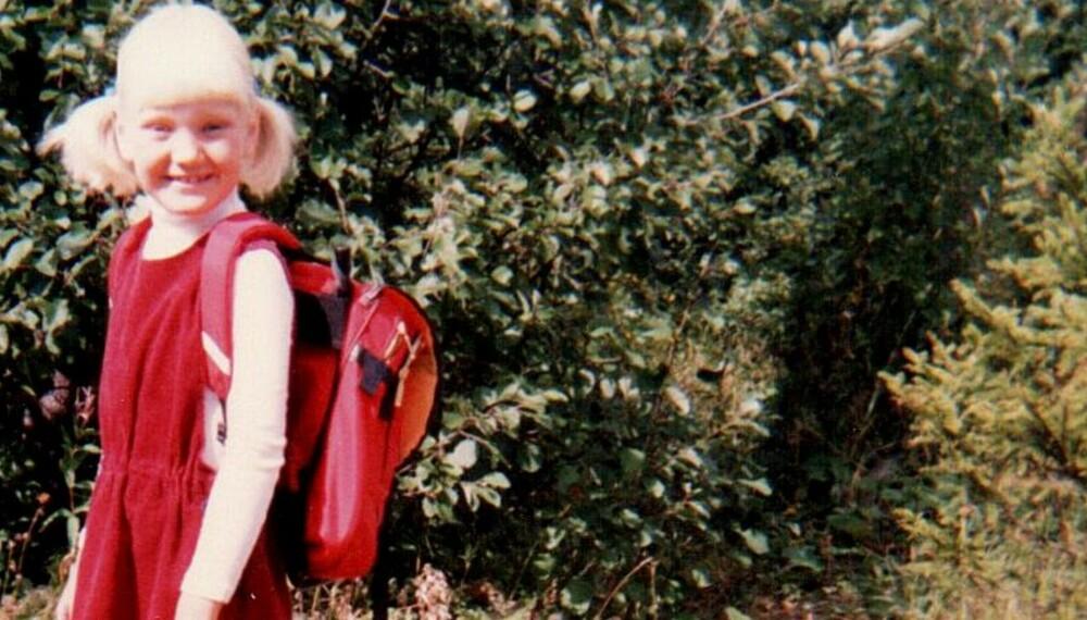 FØRSTE SKOLEDAG: Allerede fra første klasse var Marte Frimand-Anda et nøkkelbarn. Og hun elsket det.