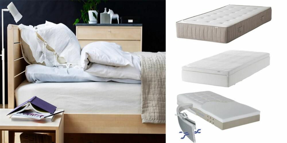 RIKTIG MADRASS: Husk at behovene til en madrass er svært individuelle. Pass på å bruke rikelig med tid når du tester ulike varianter.