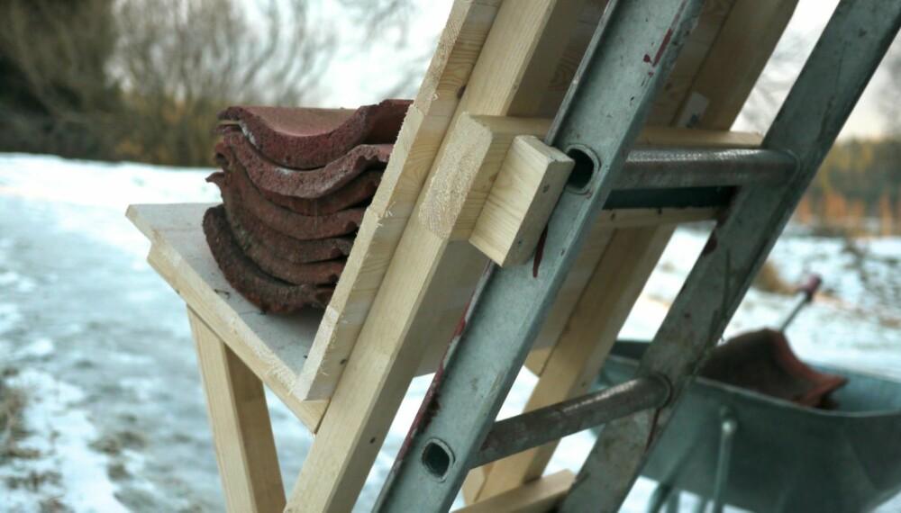 SMART HEIS: Hvis du er litt forsiktig, er denne heisen en god hjelp når du skal jobbe på taket.