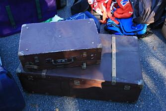 RETRO: Noen gamle kofferter blir et kult bord.