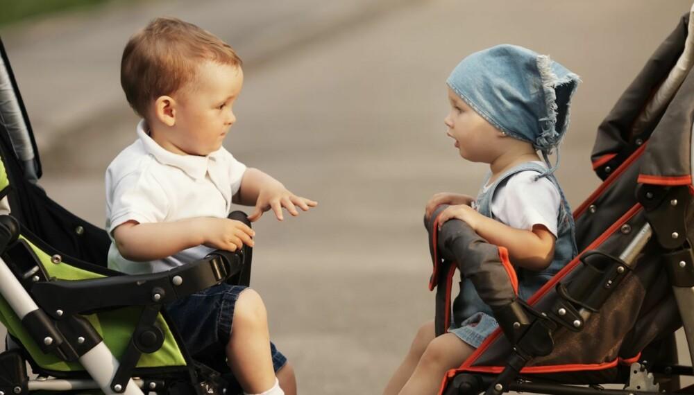 SOSIALT: Små barn kan være sosiale med hverandre, men det tar et par år før det man kan kalle vennskap utvikles.