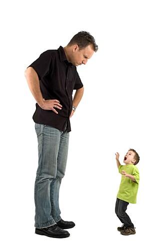 KJEFT: Kjeft fra foreldre kan virke ganske voldsomt sett ifra et barns perspektiv.