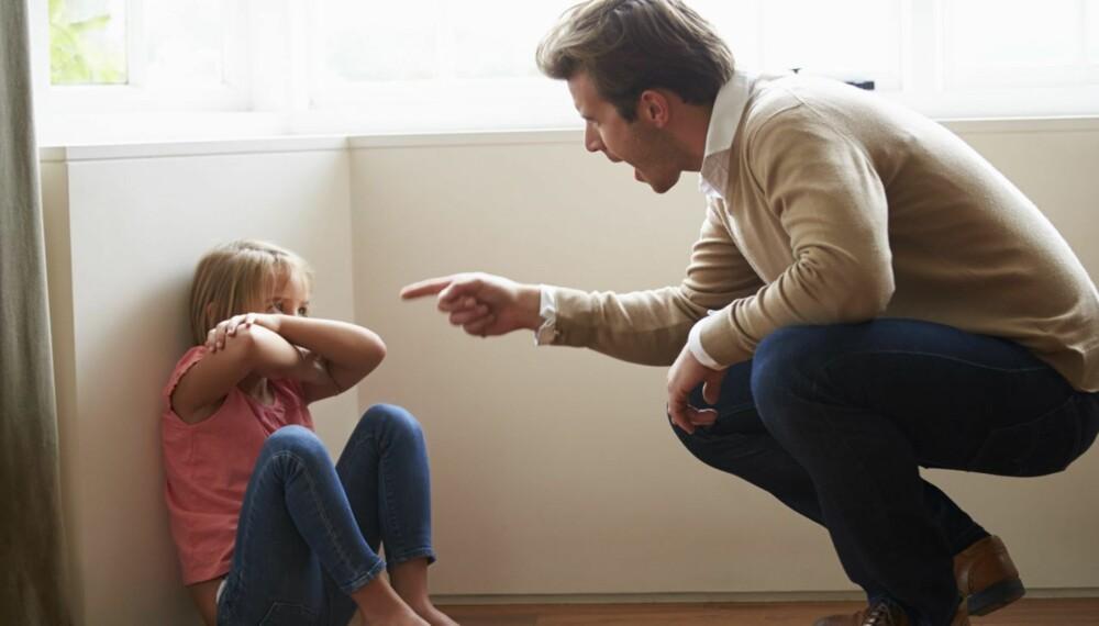 ROPING: Banning, fornærmelser, og roping  - kan være like skadelig for barn som slåing eller rising, kommer det fram i en ny studie hvor over 900 familer deltok.