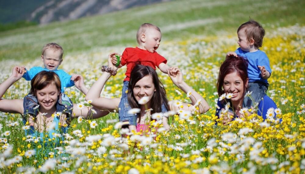 SAMME NAVN: Hvis venninnegjengen treffes ofte, kan det jo være upraktisk at alle barna heter det samme.