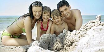 LYKKELIG FAMILIEFERIE: Her er enkle tips og råd som gjør ferien med barn til en drøm.